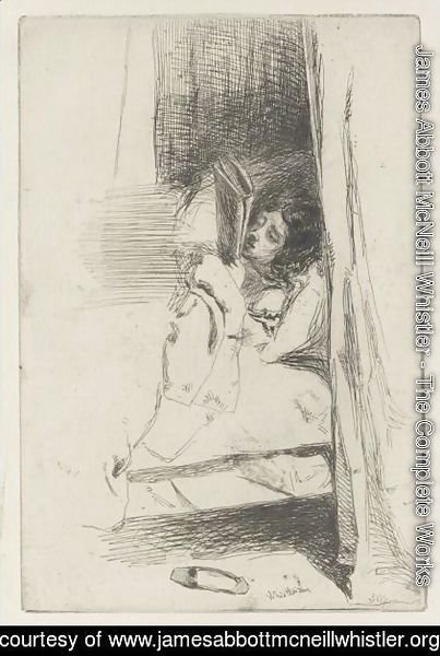 James Abbott McNeill Whistler - Reading In Bed