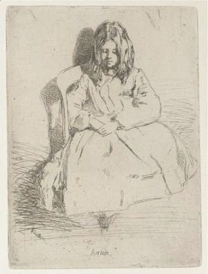 James Abbott McNeill Whistler - Annie, Seated