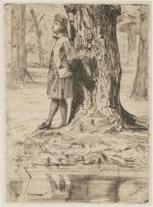 James Abbott McNeill Whistler - Seymour Standing Under A Tree