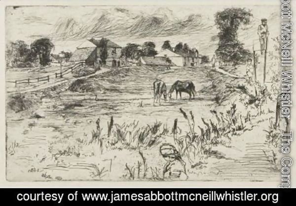 James Abbott McNeill Whistler - Landscape With The Horse 2