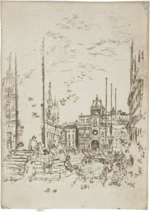 James Abbott McNeill Whistler - The Piazzetta