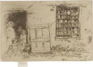 James Abbott McNeill Whistler - The Village Sweet-Shop