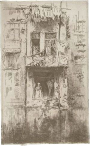 James Abbott McNeill Whistler - Balcony, Amsterdam
