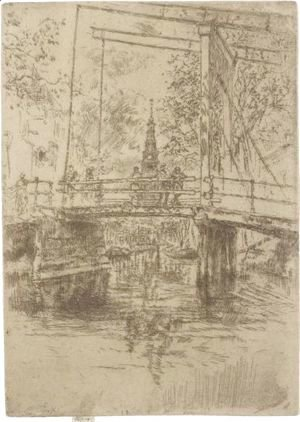 James Abbott McNeill Whistler - Little Drawbridge, Amsterdam