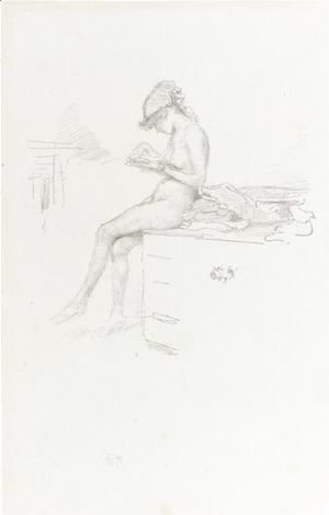 James Abbott McNeill Whistler - The Little Nude Model, Reading