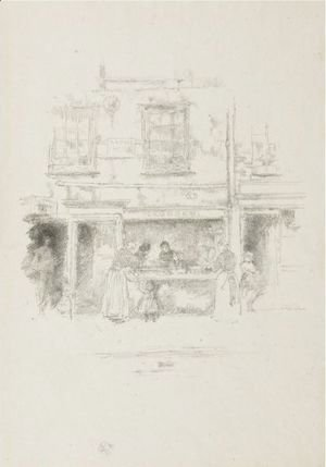 James Abbott McNeill Whistler - Maunder's Fish Shop, Chelsea