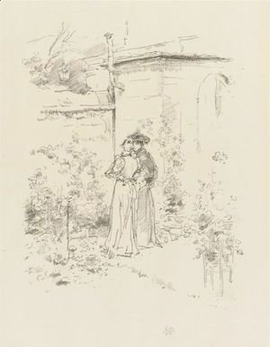 James Abbott McNeill Whistler - Confidences In The Garden