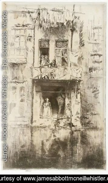 James Abbott McNeill Whistler - Balcony, Amsterdam 2