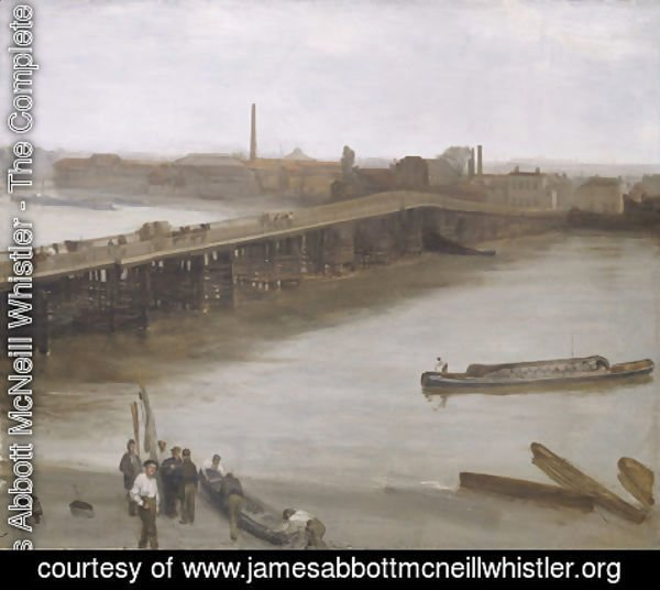 James Abbott McNeill Whistler - Brown and Silver Old Battersea Bridge