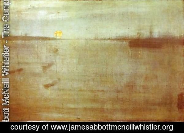 James Abbott McNeill Whistler - Whistler Nocturne Blue and Gold Southampton Water