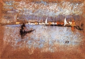 James Abbott McNeill Whistler - The guidecca Winter Grey and Blue