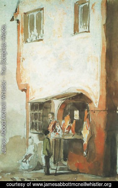 James Abbott McNeill Whistler - Butcher's Shop, Saverne