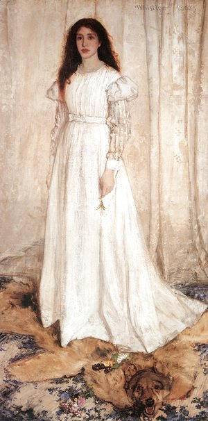 James Abbott McNeill Whistler - Symphony in White, Number 1- The White Girl, 1862