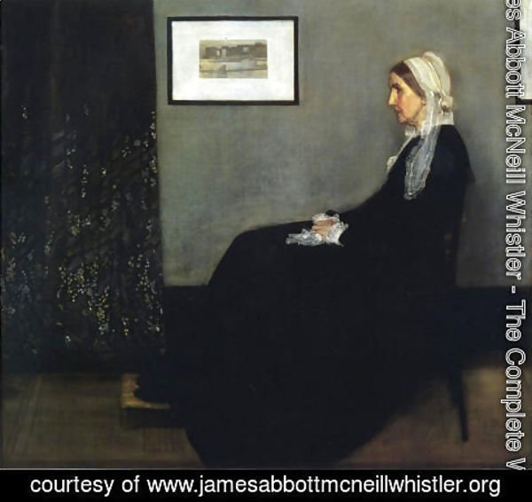 James Abbott McNeill Whistler - Arrangement in Grey and Black- Portrait of the Artist's Mother  1871