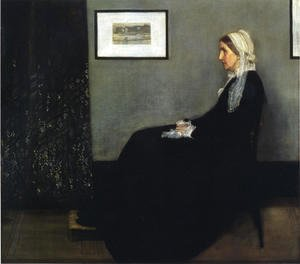 Arrangement in Grey and Black- Portrait of the Artist's Mother  1871
